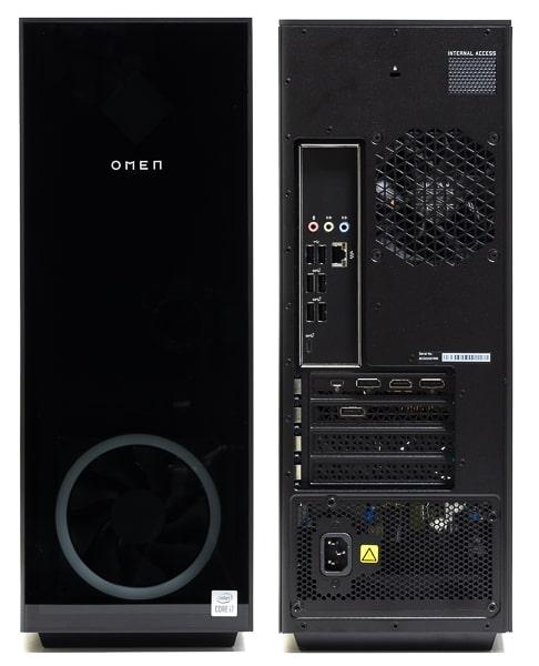 OMEN by HP 30L Desktop 前面と背面