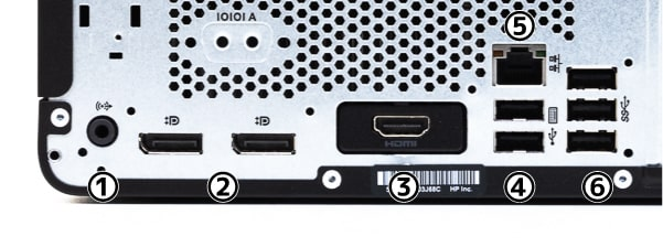 HP ProDesk 405 G6 SFF 背面