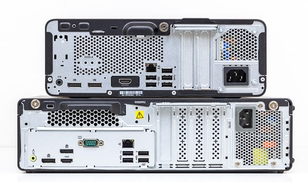 HP ProDesk 405 G6 SFF インターフェース比較