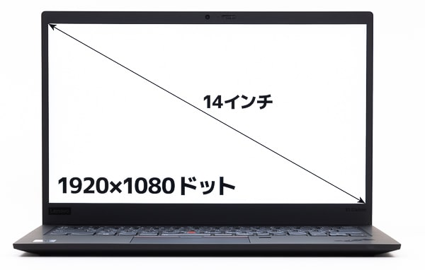 ThinkPad X1 Carbon Gen8 画面サイズ