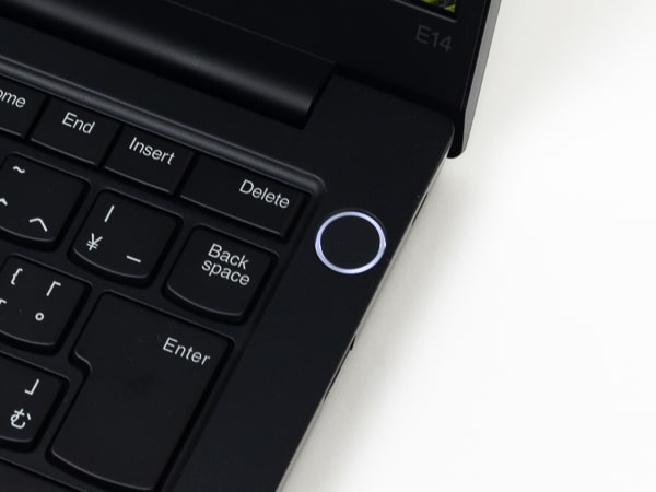ThinkPad E14 Gen2 生体認証