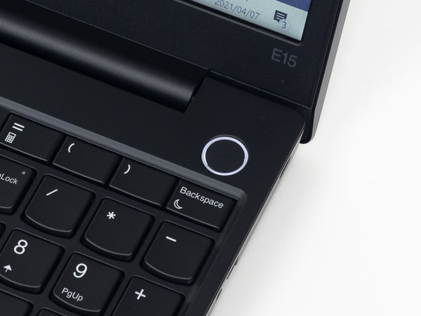 ThinkPad E15 Gen 2 指紋センサー