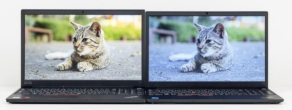 ThinkPad E15 Gen 2 映像比較