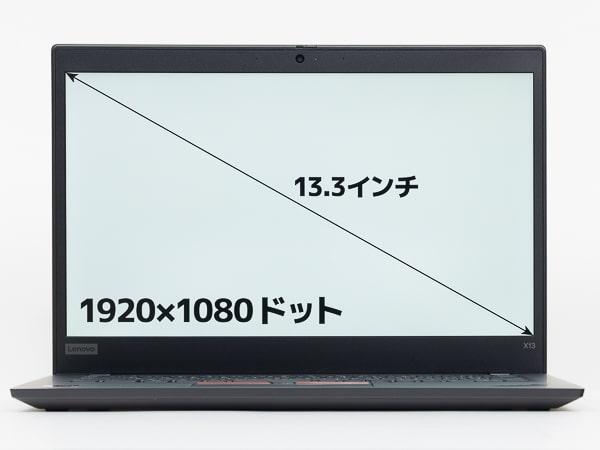 ThinkPad X13 Gen1(AMD) 画面サイズ