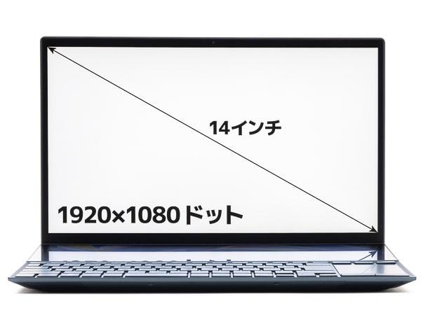 ZenBook Duo 14 UX482EG 画面サイズ