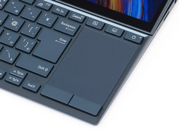 ZenBook Duo 14 UX482EG タッチパッド