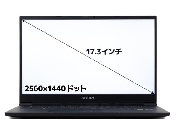 raytrek R7 画面サイズ