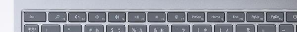 Surface Laptop Go ファンクションキー