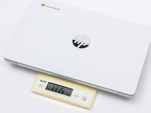 HP Chromebook 14a 重さ