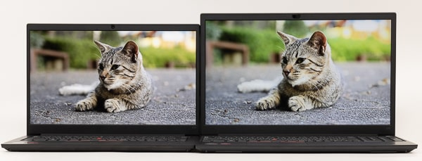 ThinkPad E14 Gen 3(AMD) パネルの違い