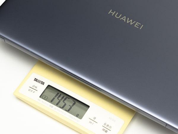 HUAWEI MateBook 14 2020 重さ