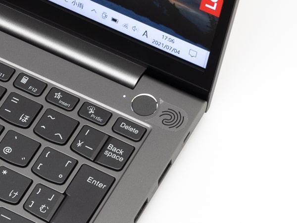 ThinkBook 13s Gen 2 指紋センサー