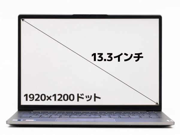 ThinkBook 13s Gen 2 画面サイズ