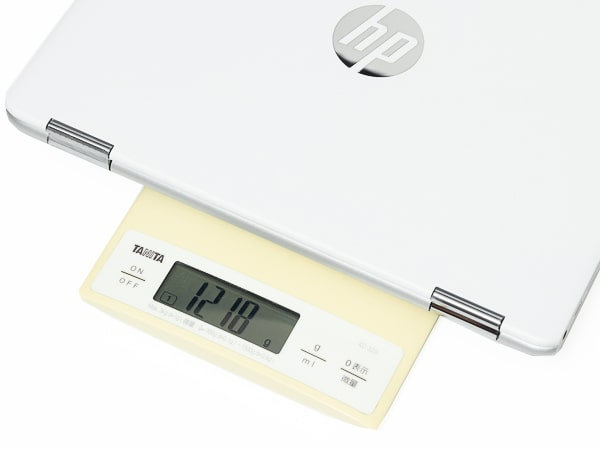 HP Chromebook x360 12b 重さ