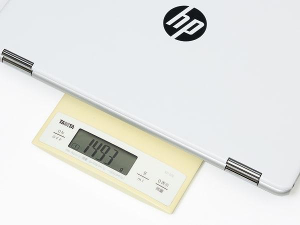 HP Chromebook x360 14b 重さ