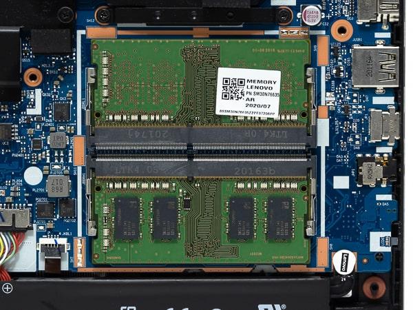 IdeaPad Gaming 350 15 (AMD) メモリースロット