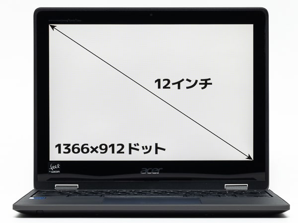 Acer Spin 512 画面サイズ