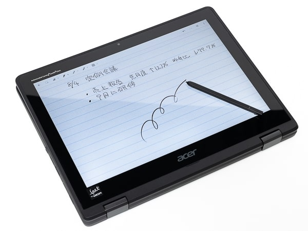 Acer Spin 512 ペン入力