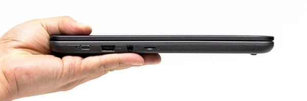 Lenovo 14e Chromebook Gen 2(AMD) 薄さ