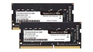 8GBメモリーが3980円&16GB×2で1万4980円! ノートPCやThinkCentre M75qで使えるTeamのメモリーが激安