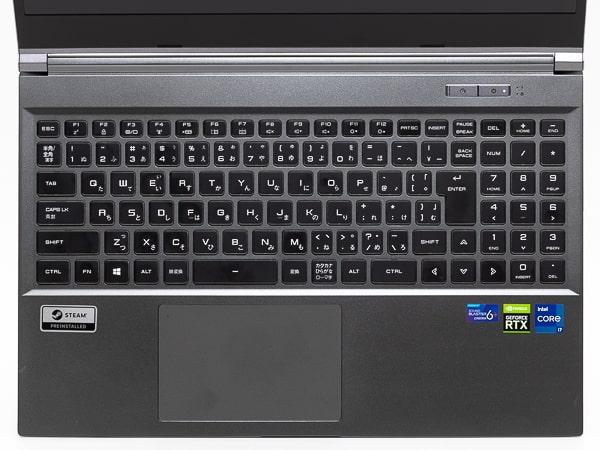 GALLERIA XL7C-R36 11800H搭載 キーボード