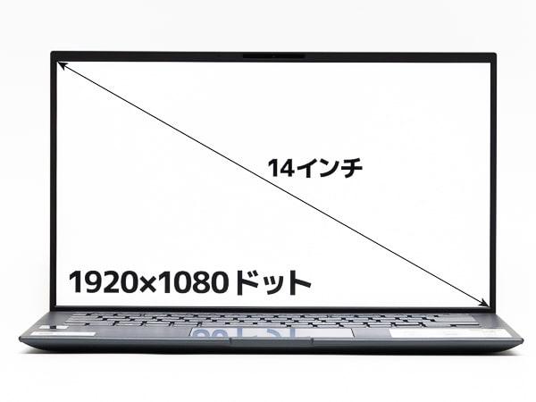 Zenbook 14 UX435 ディスプレイ
